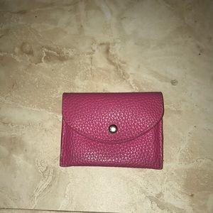 Pink wallet card holder